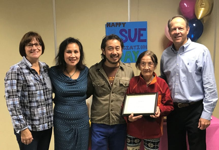 Sue Kuan 2018 Grace Johnson Award Recipient
