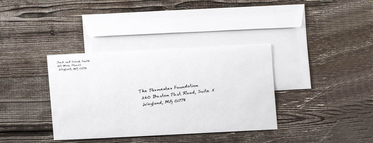 Mail a gift to The Parmenter Foundation